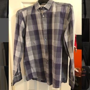 Alfani Purple Button-Up Shirt